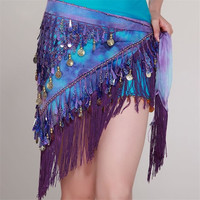 Fashion Women Belly Dance Gold Coin Hip Scarg Skirt = 1958241028