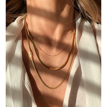 Herringbone Italian Necklace Set