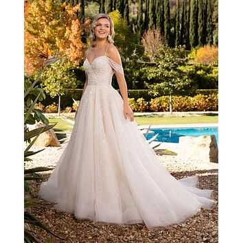 Casabanca 2389 Rachel Off The Shoulder Beaded Ball Gown Wedding Dress