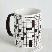 Nifty Nerd A Way With Crosswords Mug by ModCloth