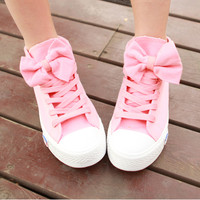 Pink canvas shoes -DS-DM