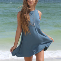 Easy Breezy Blue Green Swing Dress