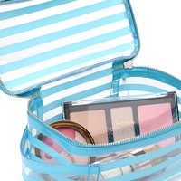 Striped Clear Makeup Case