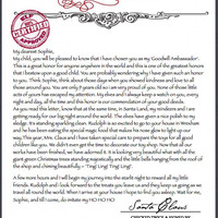 Personalised Santa letter and signed photo   Letter from Santa   Letter from Father Christmas   Nice list from santa   Christmas letter