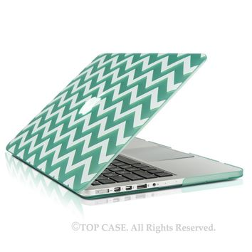 "TopCase Newly Designed 2 in 1 - Chevron Series Ultra Slim Light Weight Hard Case Cover Plus Matching Color Chevron Zig-Zag Keyboard Cover Skin for Apple MacBook Pro 13.3"" with Retina Display Model: A1425 and A1502 (NEWEST VERSION 2013) - with TopCase Chevr"