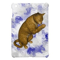 Brown Spotted Cat Praying iPad Mini Case from Zazzle.com
