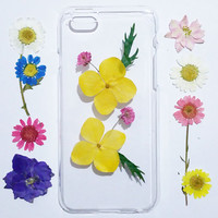 iphone 6 plus case, iPhone 6 Case Clear, iPhone 5s Case, flower iPhone 5c Case, iphone 4s case, iphone 6s case,pressed flower iphone case