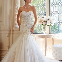 Embellished Strapless Gown by Sophia Tolli