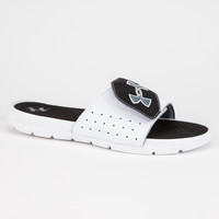 Under Armour Playmaker V Mens Sandals White  In Sizes