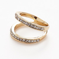 Unified Divide Engagement Style Fashion Ring