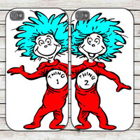 thing 1 thing 2 for iphone 4/4s case, iphone 5/5s/5c case, samsung s2 i9100,s3/s4 case cover