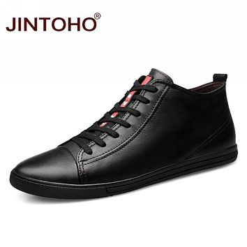 Shoes Fashion Winter Leather Ankle Boots Genuine Leather Mens Cowboy Boots Male Moccasin Boots