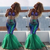 .Mermaid Dress