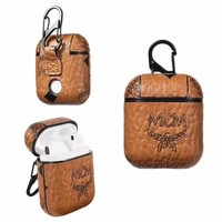 MCM AIRPODS CASE - BROWN