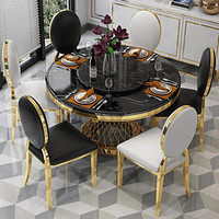 Minimalist Modern Marble Dining Table and 4 chairs