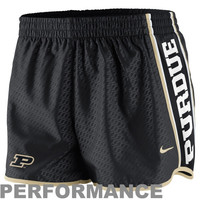 Nike Purdue Boilermakers Womens Chainmaille Pacer Performance Shorts - Black