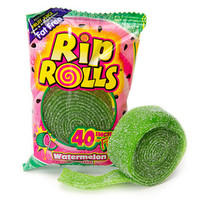 Sour Rip Rolls - Watermelon: 24-Piece Display