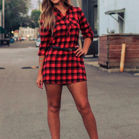 Count On Plaid Dress
