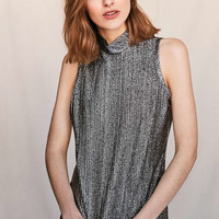 Vintage Silver Metallic Tank Top - Urban Outfitters