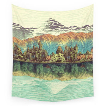 Society6 The Unknown Hills In Kamakura Wall Tapestry