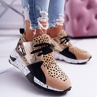 Casual Sneakers  Fashion Print Sport Shoes Thick Bottom Increased Shoes Comfortable Casual Shoes