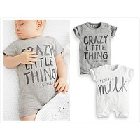 2017 summer new baby Boy girl clothes newborn toddler short-sleeved letter baby romper infant clothing set