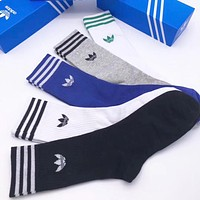 Adidas Men Fashion Casual Sport 100% Cotton Socks+Gift Box