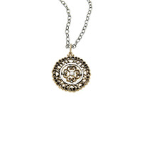 Elements Air Virtue Sterling Silver Bronze Necklace
