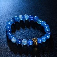 Natural stone bracelet skeleton bracelet men and women bracelet Korean jewelry