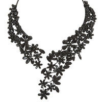 Stone Floral Necklace