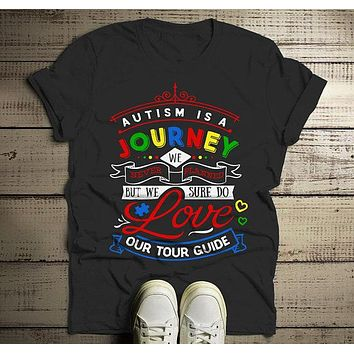 Men's Autism Awareness Shirt Journey Autism Shirt Support Tee Autism Dad T Shirt