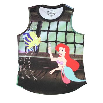 Disney The Little Mermaid Ariel and Flounder Muscle Tank Top
