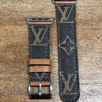 Upcycled LV Apple Watch band
