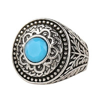 Mens Womens Vintage Old Silver Ring Best Gift Ring -03