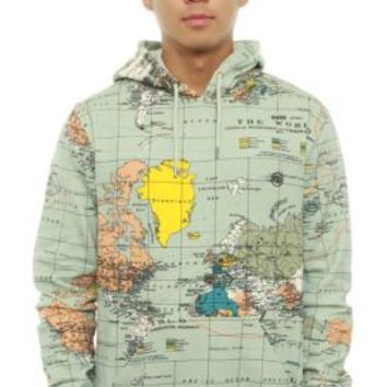 10 Deep, International Pullover Hoodie - Maps - Outerwear - MOOSE Limited