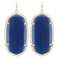 Kendra Scott Danielle Earrings Navy Cat's Eye
