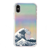 Holographic iPhone Case Cover - Kanagawa Wave