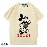 GUCCI Fashion New Letter Print Mouse Women Men Top T-Shirt