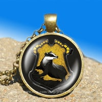 Helga Hufflepuff Harry Potter vintage pendant -necklace ready for gifting Buy 3 and get the 4th one free