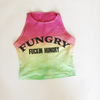 FUNGRY Tie Dye Muscle Crop