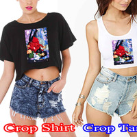 Inuyasha 79b93212-a8fe-4fbb-bf29-1959ea0bd345 For Crop Shirt and Crop Tank Sexy Shirt Women S, M, L, XL, 2XL*02*