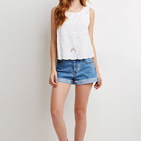 Embroidered Cutout-Back Top