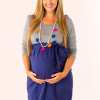 Actually Adorable Maternity Dress in Grey