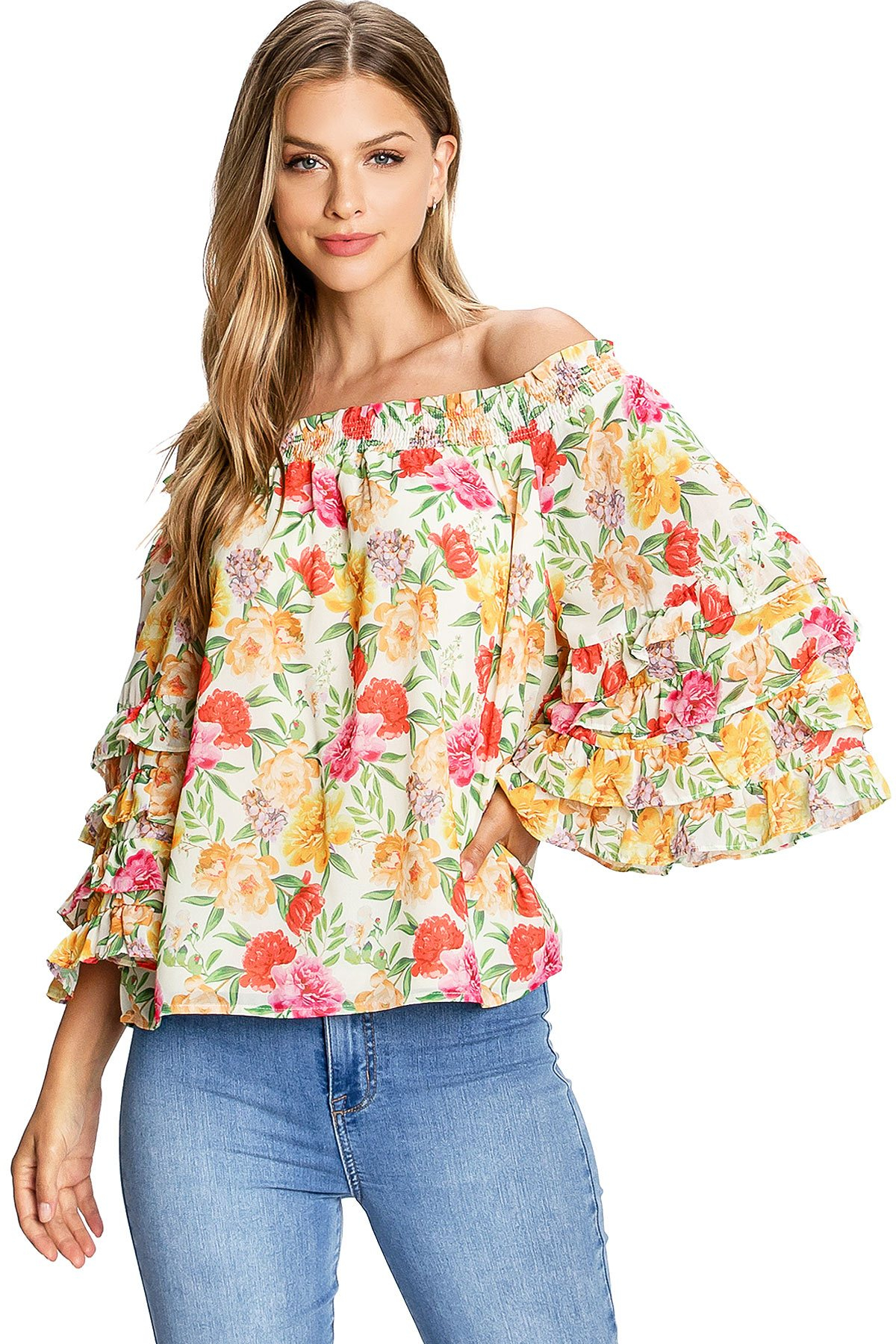 Image of Miami Bloom Blouse