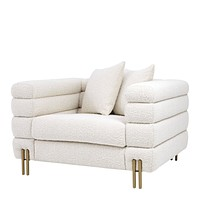 Bouclé Cream Art Deco Chair | Eichholtz York
