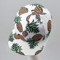 Pineapple Pattern Summer Fashion Style Lovely Women Gift - Hat = 4697435204