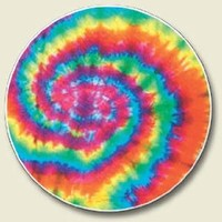 Tie dye sixties pyschedelic Auto Coaster, Single Coaster for Your Car cup holder