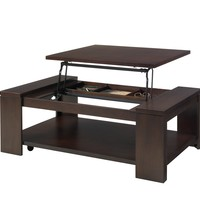 Waverly Contemporary Castered Lift-Top Cocktail Table Vintage Walnut