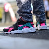 Sale Nike Air Huarache 1 Run Rainbow Ultra Breathe Men Women Black Pink Camouflage Running Sport Casual Shoes Sneakers - 931