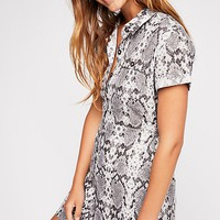 Italian Love Story Printed Dress